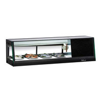 Turbo Air SAS-50R-N 50 inch Straight Glass Refrigerated Sushi Case - Right Side Compressor