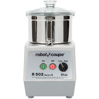 Robot Coupe R502 Combination Continuous Feed Food Processor with 5.5 Qt. Stainless Steel Bowl - 3 hp
