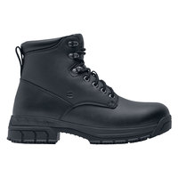 Shoes For Crews 77319 August Women's Black Water-Resistant Steel Toe Non-Slip Work Boot