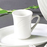 CAC GAD-17 Garden State 8 oz. Bone White Porcelain Coffee Mug - 36/Case
