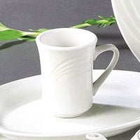 CAC GAD-17 Garden State 8 oz. Bone White Porcelain Coffee Mug - 36 / Case