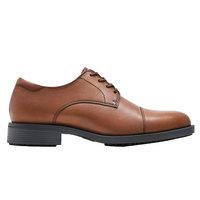 Shoes For Crews 1211 Senator Men's Brown Water-Resistant Soft Toe Non-Slip Dress Shoe