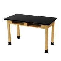 National Public Seating SLT3060-BC 30 inch x 60 inch Science Lab Table with Built-In Book Compartments- 30 inch Height