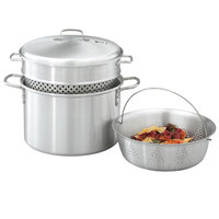 Vollrath 68126 Wear-Ever 8 Qt. Pasta Cooker / Vegetable Steamer Set