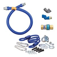 36 inch Dormont 16100BPQSR SwivelMAX Gas Connector Kit with Coiled Restraining Device - 1 inch Diameter
