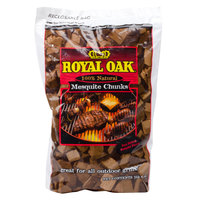 Mesquite Wood Chunks 360 Cu. In. Bag - 6/Case
