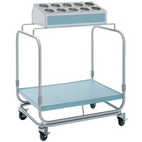 Delfield UTS-1 Tray and Silverware Cart with 10 Hole Flatware Bin and Fiberglass Tray Shelf