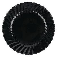 WNA Comet CW6180BK Classicware 6 inch Black Plastic Plate - 180/Case