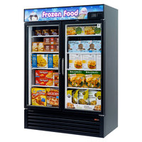 Turbo Air TGF-49FB-N Black 54 inch Glass Door Merchandising Freezer