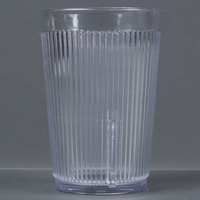 Carlisle 401007 Crystalon Stack-All 9.5 oz. Clear SAN Plastic Tumbler - 12/Case