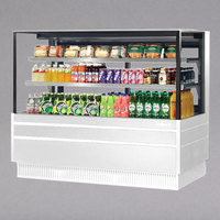 Turbo Air TCGB-36UF-W-N White 36 inch Flat Glass Refrigerated Bakery Display Case