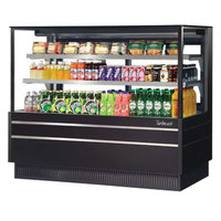 Turbo Air TCGB-72UF-B-N Black 72 inch Flat Glass Refrigerated Bakery Display Case