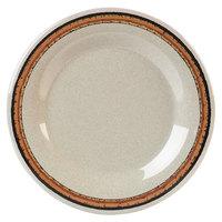 Carlisle 43013908 Mosaic Durus 9 inch Sierra Sand on Sand Wide Rim Melamine Plate - 24/Case