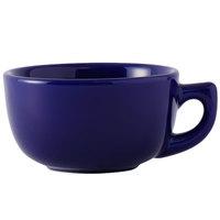 Tuxton BCF-1402 Cobalt 14 oz. Jumbo Cappuccino China Cup - 24/Case