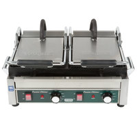 Waring WDG300 Two Grooved & Two Smooth Plate Panini Sandwich Grill - 17 inch x 9 1/4 inch Cooking Surface - 240V, 3120W