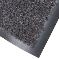 Cactus Mat 1437M-L36 Catalina Standard-Duty 3' x 6' Charcoal Olefin Carpet Entrance Floor Mat - 5/16 inch Thick