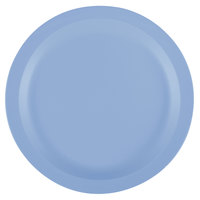 Cambro 9CWNR401 Camwear 9 inch Slate Blue Polycarbonate Narrow Rim Plate - 48/Case