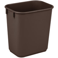 Continental 1358BN 13.6 Qt. / 3 Gallon Brown Rectangular Wastebasket / Trash Can