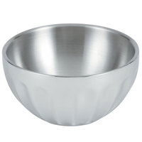 Vollrath 47685 24 oz. Double Wall Round Fluted Serving Bowl