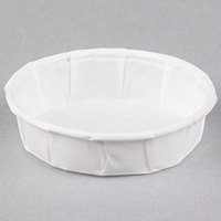 Genpak F075S .75 oz. Squat Harvest Paper Souffle / Portion Cup - 5000/Case