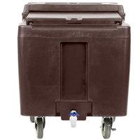 Cambro ICS125LB131 SlidingLid™ Dark Brown Portable Ice Bin - 125 lb. Capacity