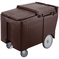 Cambro ICS125LB131 SlidingLid Dark Brown Portable Ice Bin - 125 lb. Capacity