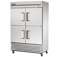 True T-49-4 55 inch Solid Half Door Reach In Refrigerator