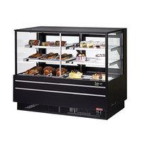 Turbo Air TCGB-60UF-CO-B-N Black 60 inch Flat Glass Dual Dry / Refrigerated Bakery Display Case