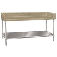 Advance Tabco BG-304 Wood Top Baker's Table with Galvanized Undershelf - 30 inch x 48 inch