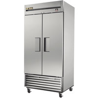 True TS-35F 40 inch Stainless Steel Two Section Solid Door Reach in Freezer - 35 cu. ft.