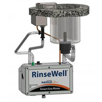 Nemco 3005-606 RinseWell Smart Eco Rinse Dipper Well Controller with 6 inch Round Dipper Well