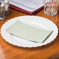 Soft Sage Green Paper Dinner Napkins, 2-Ply, 15 inch x 17 inch Hoffmaster 180546 - 1000/Case