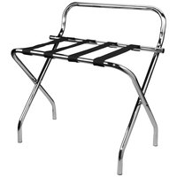 Lancaster Table & Seating Chrome Folding Luggage Rack with Wall Guard - 6/Pack