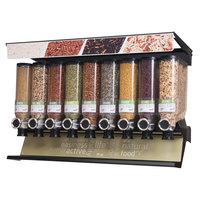 Rosseto SD3232 Bulkshop Standard Dry Food Merchandiser Shelf with 9 Canisters - 48 inch x 20 3/4 inch x 30 3/8 inch