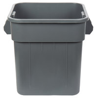 Continental 2800GY Huskee 32 Gallon Square Gray Trash Can