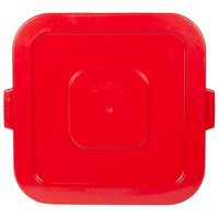 Continental 2801RD Huskee 32 Gallon Square Red Trash Can Lid