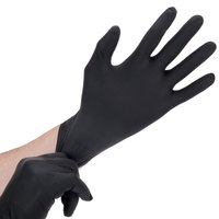Lavex Industrial Nitrile 6 Mil Thick Heavy-Duty Powder-Free Textured Gloves - Medium