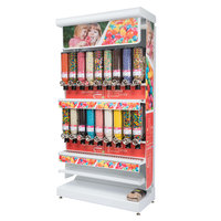 Rosseto GK1121 Bulkshop Free Standing Candy Merchandising Gondola with Canisters - 50 inch x 25 13/16 inch x 108 inch