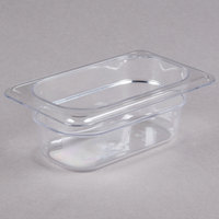 Cambro 92CW135 Camwear 1/9 Size Clear Polycarbonate Food Pan - 2 1/2 inch Deep