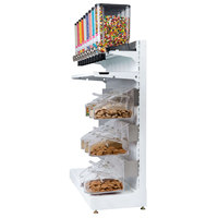 Rosseto GK2111 Bulkshop Free Standing Coffee Merchandising Gondola with Canisters and Scoop Bins - 50 inch x 25 13/16 inch x 82 inch