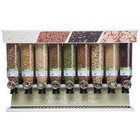 Rosseto SD3231 Bulkshop Premium Dry Food Merchandiser Shelf with 9 Canisters - 48 inch x 20 3/4 inch x 30 3/8 inch