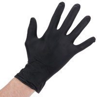 Lavex Industrial Nitrile 6 Mil Thick Heavy-Duty Powder-Free Textured Gloves - Large