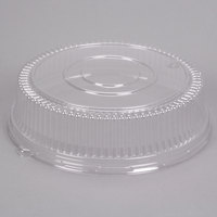 Sabert 5516 16 inch Clear Plastic Round High Dome Lid - 3/Pack