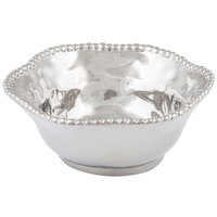 Pampa Bay CER-1142-SV Verona 1.5 Qt. Silver Titanium-Plated Porcelain Round Bowl
