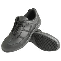 Genuine Grip 330 Women's Black Leather Casual Athletic Non Slip Shoe