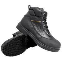 Genuine Grip 7800 Women's Black Injection Waterproof Steel Toe Non Slip Full Grain Leather Boot