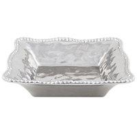 Pampa Bay CER-1200-SV Verona 2 Qt. Silver Titanium-Plated Porcelain Square Bowl