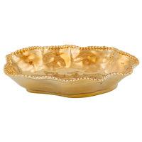 Pampa Bay CER-1136-GD Monaco 1.5 Qt. Gold Titanium-Plated Porcelain Oval Bowl