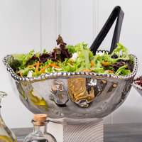 Pampa Bay CER-1721-SV Verona 3 Qt. Silver Titanium-Plated Porcelain Round Bowl