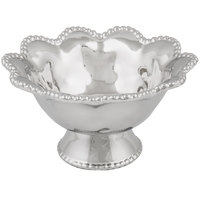 Pampa Bay CER-1714-SV Verona 24 oz. Silver Titanium-Plated Porcelain Round Footed Bowl